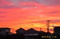 赤色に変わった、夕焼け雲。(26.10.10)