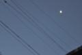 昨夜・長月二十三日の残月と木星?。(26.10.17)(5:31)