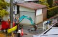 雨中の、道路工事。(26.11.26)