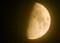 ほんのり輝いた「神無月・九日」のお月さま。(26,11,30)(17:45)