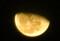 切れ目を上にした半ペタのお月さま。(27.1.11)(23:07)