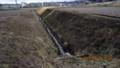 作業を担当した、「排水溝・大土手」。(27.4.5)