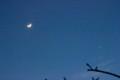 「弥生四日」の月と金星。(27.4.22)(18:54)