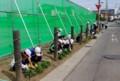 小学4年生の、草取りと水やり。(27.5.18)