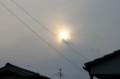 薄雲を透かして、太陽が…。(27.5.29)