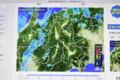 雨雲レーダー画像。北アルプスを超えられるか