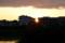 西空に沈む夕日。(27.6.10)