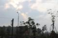 雷雨、西空には太陽が…。(27.6.15)