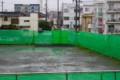 雨中、登校する小学生。(27.6.18)
