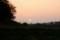 山の端に沈む直前の、大きな太陽。(27.10.23)(16:47)