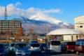 雪雲が切れて、姿を見せた「白銀の浅間山」。(27.11.27)