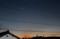 明るさを増した東の空。(27.12.9)(6:13)