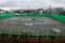 水浸しの「仮設運動場」。(27.12.11)