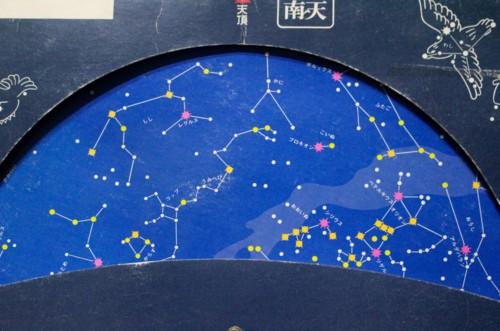 真夜中の星空(際座標)。(28.2.19)(0:04)