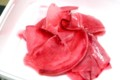 妻が手作り、「赤カブの甘酢漬け」(28.2.22)