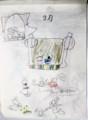 孫娘手作りカレンダー、3月は「ひな祭り」。(28.3.1)