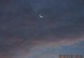 雲間に、「水無月二十八日」のお月さま・(28.7.31)(4:24)