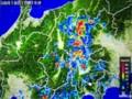 長野県に、強い雨雲が…。(28.8.18)(