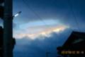 一部は、不気味な朝焼け雲が。828.8.22)