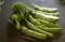 「野菜の日」に採った、スティックセニョール」、「モロッコインゲン