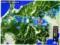 佐久市付近、大雨時の雨雲レーダー画像。(28.9.7)