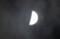 薄雲にほんのり、「八月九日」・上弦のお月さま。(28.9.9.)(18:45)
