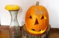 「かぼちゃランタン」の完成。(28.10.2)