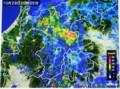「雨雲レーダー」画像。(28.10.28)