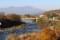 佐久穂町のお宿より、千曲川、浅間山。(28.11.12)