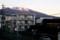日の出前、浅間山はほんのり紅く…。(28.12.2)(6:41)