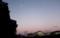 厳しい冷え込みの朝、「霜月十八日」のお月さま。(28.12.17)