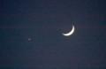 「十二月五日」のお月さまと、「宵の明星・金星」との、見かけ上の接