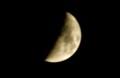 雲間に顔を出した「十二月八日」の月。(29.1.5)(17:33)
