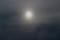 曇り空、鈍く光る太陽。(29.1.8)