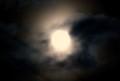 十二月・師走十五日(満月・望)の月。(29.1.12)(18:15)