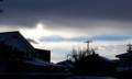 西空に、不思議な雲が棚引いて…。