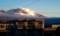 「白銀・白雲の浅間山」、山麓は厚い雲で覆われて…。(29.2.13)