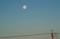 西空に残る、昨夜・「正月十六日」のお月さま。(29.2.13)(7:00)