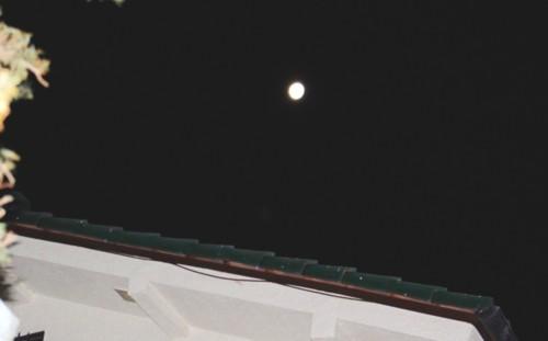 西空高く、昨夜・「正月十七日」のお月さまが…。(29.2.14)(5:08)