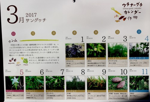 『ウチナーグチ カレンダー』3月。(29.3.1)