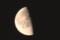 昨夜半に出たばかりの「二月二十二日」のお月さま。(29.3.20)(4:17)