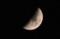 天頂に「三月七日」のお月さま。(29.4.3)(19:02)
