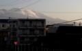 朝日が、「白銀の浅間山」を照らす。(29.4.6)(6:13)