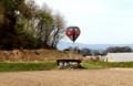 バルーンの着陸…、近くは「駒場公園」辺りに…。(29.5.3)(7:54)