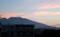 朝焼け雲、黒黒した「浅間山」。(29.5.5)(4:45)
