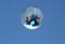 我が家の上空を飛行するバルーン。(29.5.5)(8:22)
