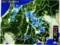 「雨雲レーダー画像」820:40)、佐久地方に黄色表示…。(29.5.17)