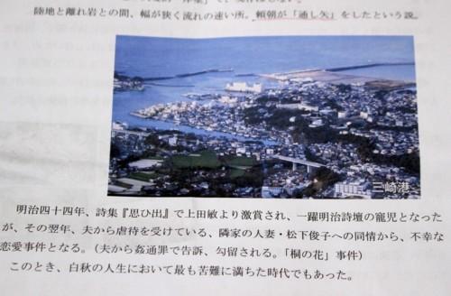 研修旅行資料、上空より「三崎漁港」「城ヶ島」(29.6.1)