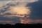 日の入り間際、夕焼け雲。(29.6.6)(18::39)