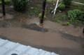 雷雨、路面には水溜りが…。(29.6.9)